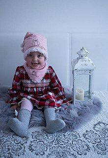 Detské čiapky - Detská čiapka s nákrčníkom Sovička - 10374407_