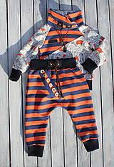 Detské oblečenie - súpravička pásik - 10373755_