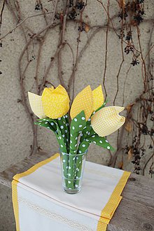 Dekorácie - Tatranské tulipány (Žltá) - 10374415_