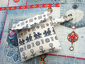 Úžitkový textil - eko vrecka na nákup potravín  (Biela) - 10373293_