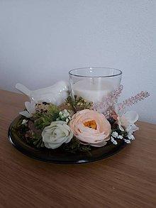 Svietidlá a sviečky - Jarný voňavý svietniček - 10370865_