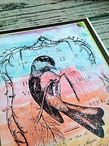 Papiernictvo - Pohľadnica Vtáčik - 10372288_