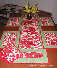 Úžitkový textil - maky na stole - 10373717_
