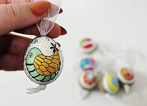 Dekorácie - bažantie vajíčka /sada 6ks - 10370850_
