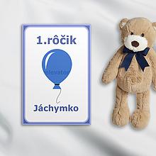 Papiernictvo - Minimalistické míľnikové kartičky (balónik) - 10373107_
