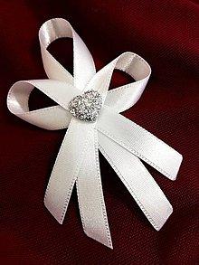 Pierka - Svadobné pierko s kryštálovým srdcom - 10375489_