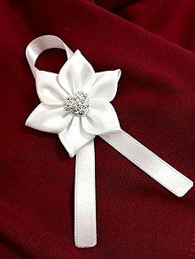 Pierka - Svadobné pierko s kryštálovým srdcom - 10375490_