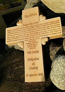 Dekorácie - Ďakovný krížik pre rodičov - 10378374_