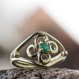 Prstene - Vlastný projekt snubáčika so smaragdom - 10378319_