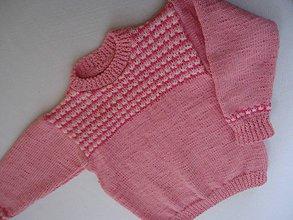 Detské oblečenie - pulovrík -ružová hraška - 10375502_