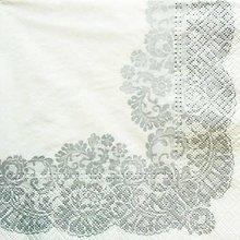 Papier - S1388 - Servítky - folk, krajka, čipka, výšivka, kvietky - 10374999_