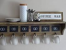 """- Polica """"kávový kútik"""" s tabuľkou - 10375830_"""