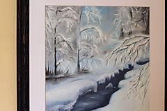 Obrazy - Zimná krajinka - 10375576_
