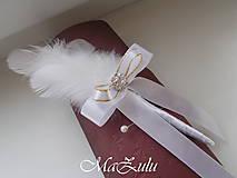 Pierka - svadobné pierko v bieloZlatom - 10378488_