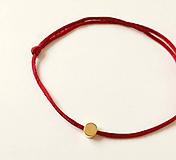 Náramky - Červený náramok karma - 10376215_