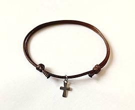 Šperky - Ochranný náramok Krížik vodeodolný - 10376719_