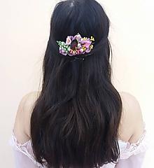 Ozdoby do vlasov - Kvetinový hrebienok ''Yvonne...'' - 10375908_