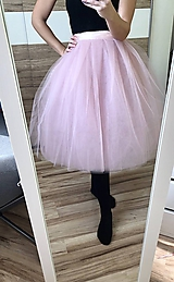 Sukne - Tylová spoločenská sukňa - 10375008_
