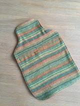 Úžitkový textil - Termofor v oranžovom -originálna ozdobná ohrievacia fľaša - 10375002_
