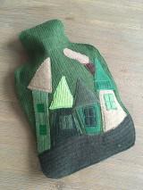 Úžitkový textil - Termofor v zelenom domčekový - 10375092_