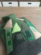 Úžitkový textil - Termofor v zelenom domčekový - 10375093_