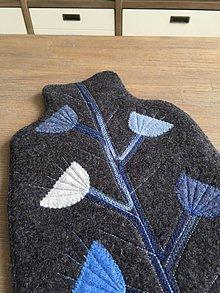 Úžitkový textil - Termofor v modrom-originálna ozdobná ohrievacia fľaša - 10374983_