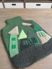 Úžitkový textil - Termofor v zelenom domčekový - 10375088_