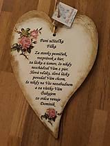 Tabuľky - Srdiečko pre pani učiteľku - 10374909_