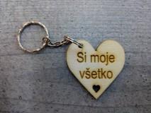 Kľúčenky - Drevená kľúčenka - 10378156_