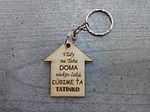 Kľúčenky - Drevená kľúčenka - 10378376_