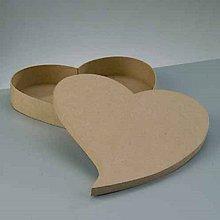 Polotovary - Papierová krabica plytká Srdce šikmé - 10375044_