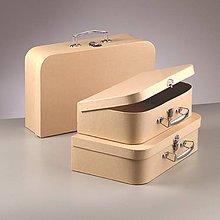 Polotovary - Papierový kufor z kartónu - 10375054_