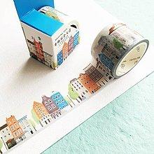 Papier - dekoračná papierová páska Ulička - 10375651_