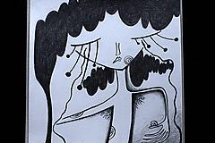 Kresby - // Nad zemou i pod zemou //obrázky/ kresba ceruzou vytvárajúca príbeh/ - 10376732_