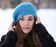 Čiapky - Modrá baretka - 10377567_