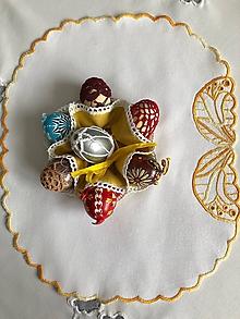 Úžitkový textil - Vyšívané puzdro na vajíčka - 10376264_