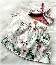 Detské oblečenie - Dievčenský set šípková ruženka - 10377336_
