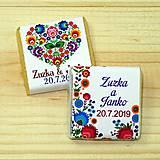 Darčeky pre svadobčanov - Svadobné čokoládky Folk 1 - 10378464_