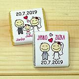 Darčeky pre svadobčanov - Svadobné čokoládky Spolu - 10378496_