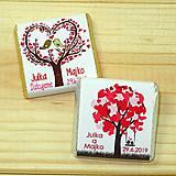 Darčeky pre svadobčanov - Svadobné čokoládky Strom lásky - 10378504_