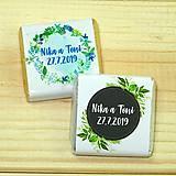 Darčeky pre svadobčanov - Svadobné čokoládky Machuľky - 10378505_