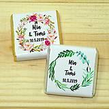 Darčeky pre svadobčanov - Svadobné čokoládky Kvetinový kruh - 10378506_