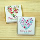 Darčeky pre svadobčanov - Svadobné čokoládky Kvetinové srdce - 10378507_