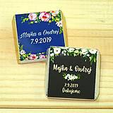Darčeky pre svadobčanov - Svadobné čokoládky Kvetinky II - 10378509_