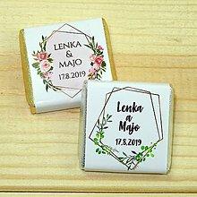 Darčeky pre svadobčanov - Svadobné čokoládky Geométrica - 10378502_