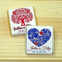 Darčeky pre svadobčanov - Svadobné čokoládky Folk 2 - 10378512_