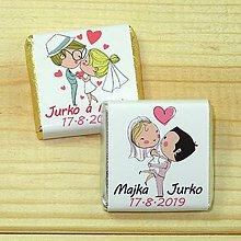 Darčeky pre svadobčanov - Svadobné čokoládky Kreslení - 10378513_