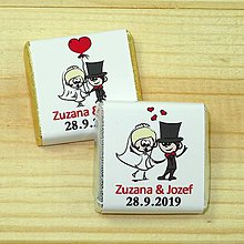 Darčeky pre svadobčanov - Svadobné čokoládky Srdiečko - 10378517_