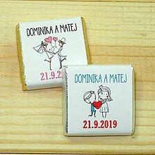 Darčeky pre svadobčanov - Svadobné čokoládky Láska - 10378519_
