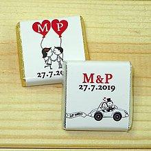 Darčeky pre svadobčanov - Svadobné čokoládky Dvojica - 10378522_